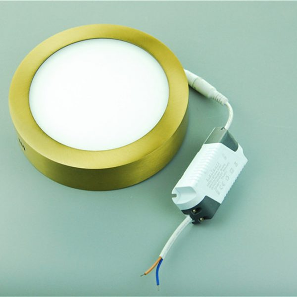 Surface Mounted Round Cinnamon Brass Color Led Panel Light